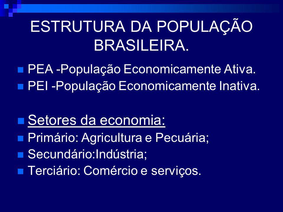 ESTRUTURA DA POPULAÇÃO BRASILEIRA.