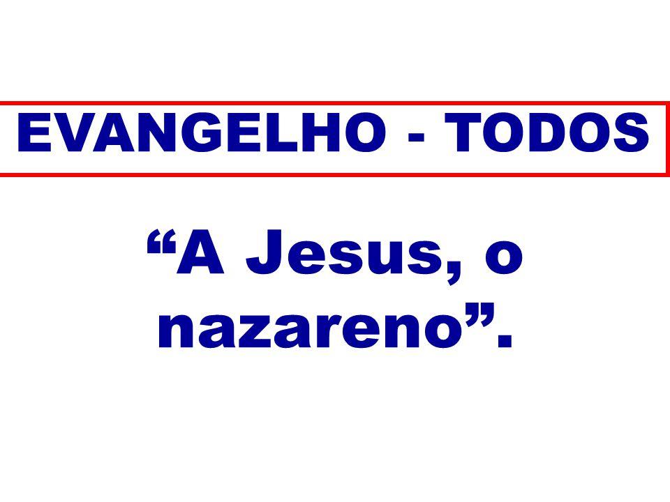 A Jesus, o nazareno . EVANGELHO - TODOS 105