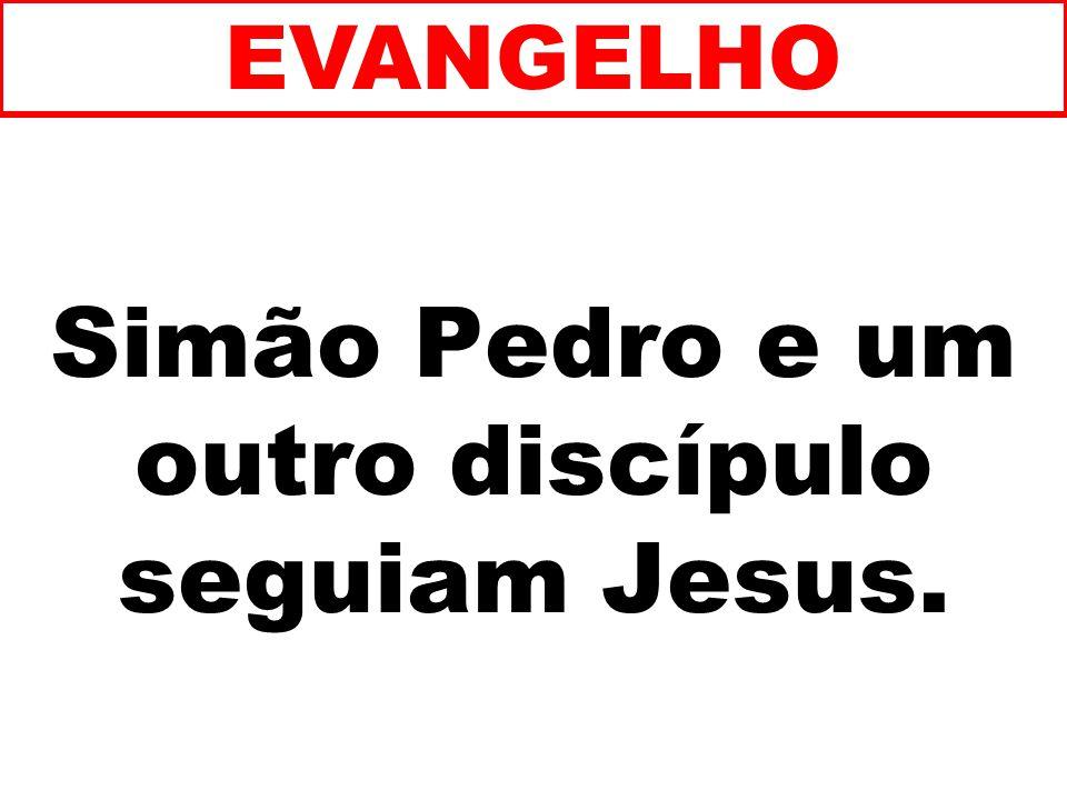 Simão Pedro e um outro discípulo seguiam Jesus.