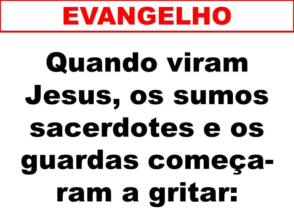 EVANGELHO Quando viram Jesus, os sumos sacerdotes e os guardas começa-ram a gritar: 188