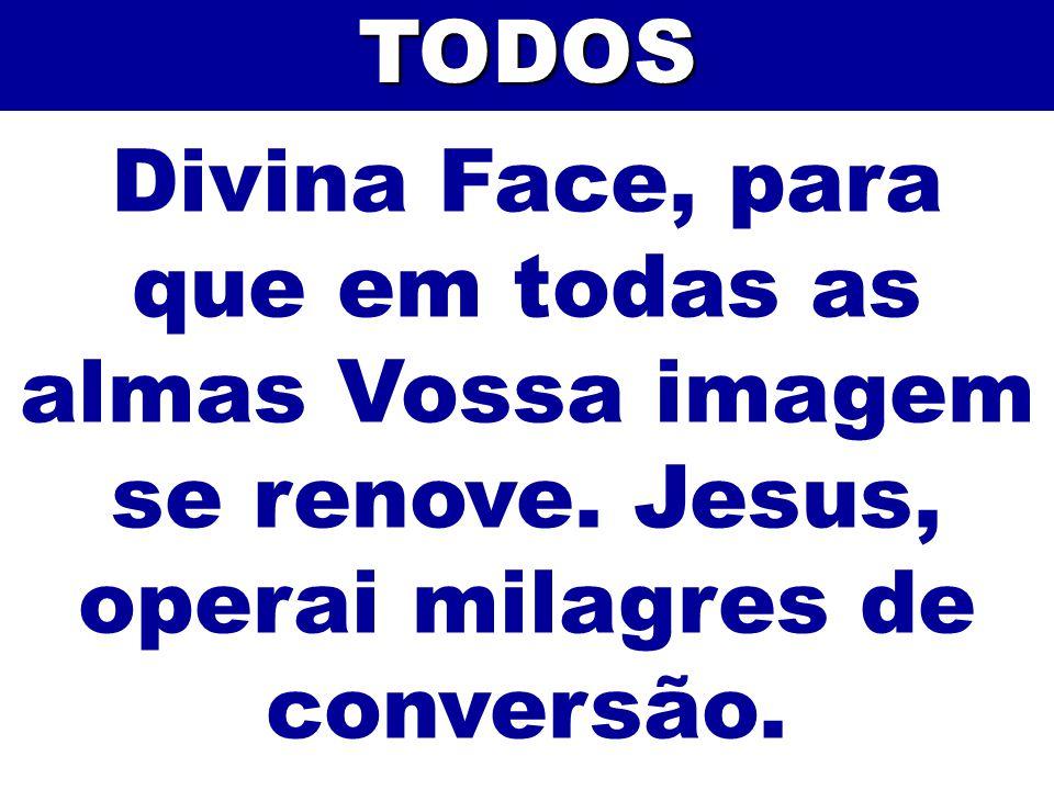 TODOS Divina Face, para que em todas as almas Vossa imagem se renove.