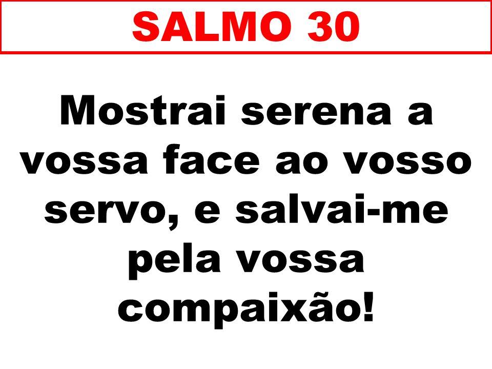 SALMO 30 Mostrai serena a vossa face ao vosso servo, e salvai-me pela vossa compaixão! 73