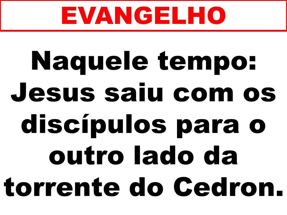 EVANGELHO Naquele tempo: Jesus saiu com os discípulos para o outro lado da torrente do Cedron. 94