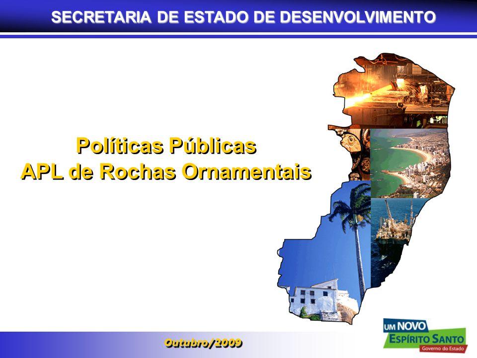 SECRETARIA DE ESTADO DE DESENVOLVIMENTO APL de Rochas Ornamentais