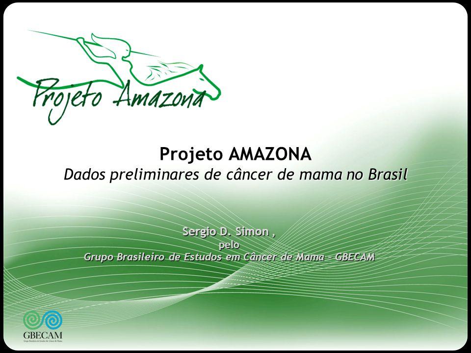 Projeto AMAZONA Dados preliminares de câncer de mama no Brasil