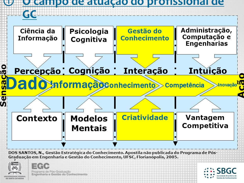 Gestão do Conhecimento Administração, Computação e