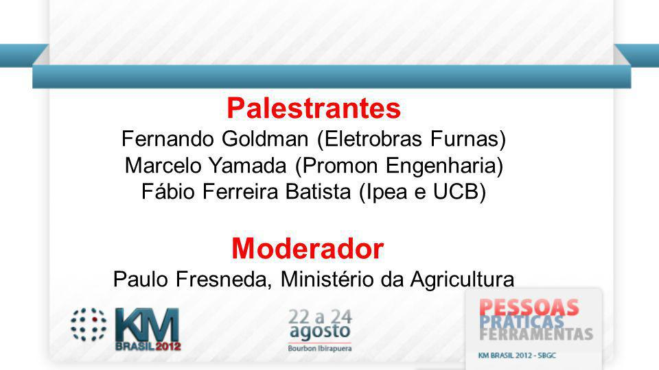 Palestrantes Moderador
