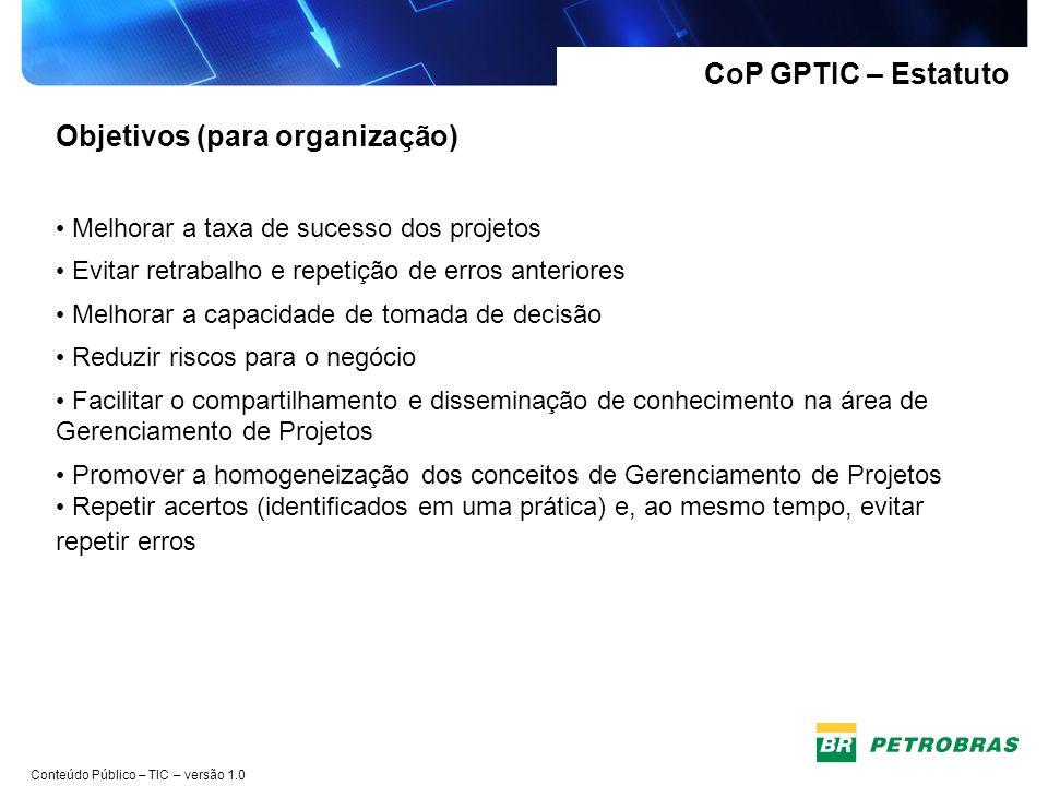 Objetivos (para organização)
