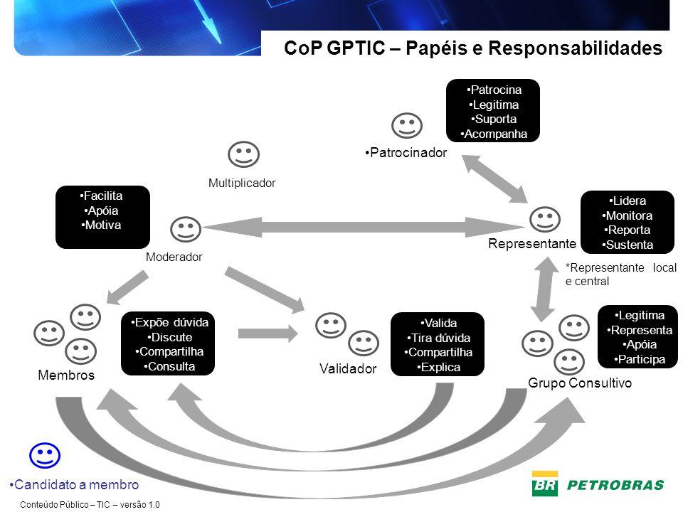 CoP GPTIC – Papéis e Responsabilidades