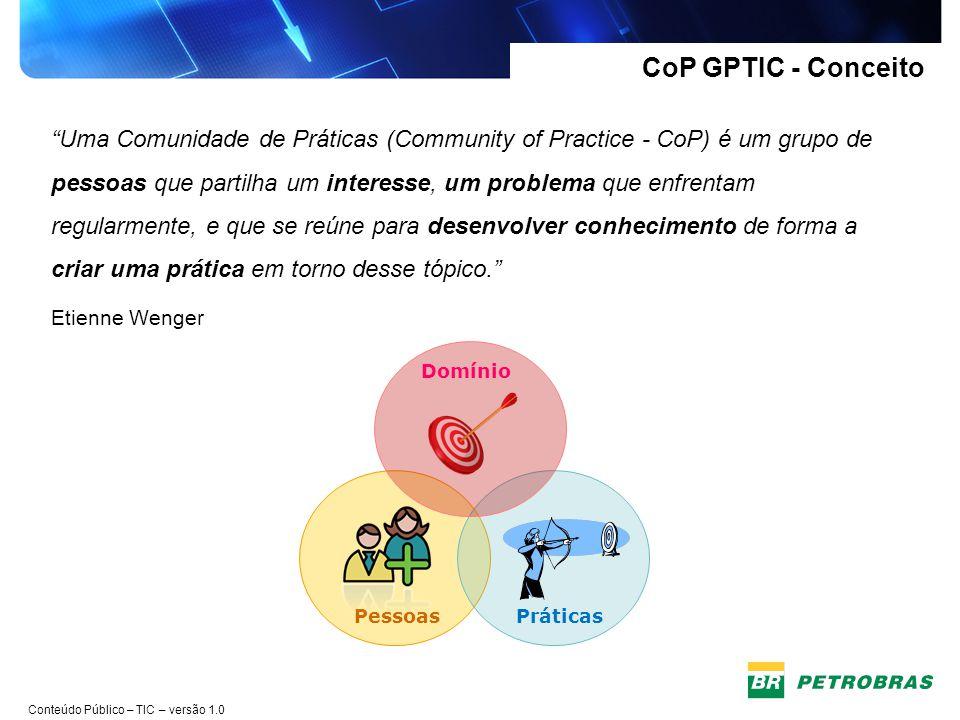 CoP GPTIC - Conceito Pessoas. Práticas.