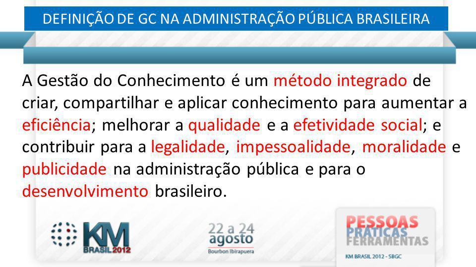 DEFINIÇÃO DE GC NA ADMINISTRAÇÃO PÚBLICA BRASILEIRA