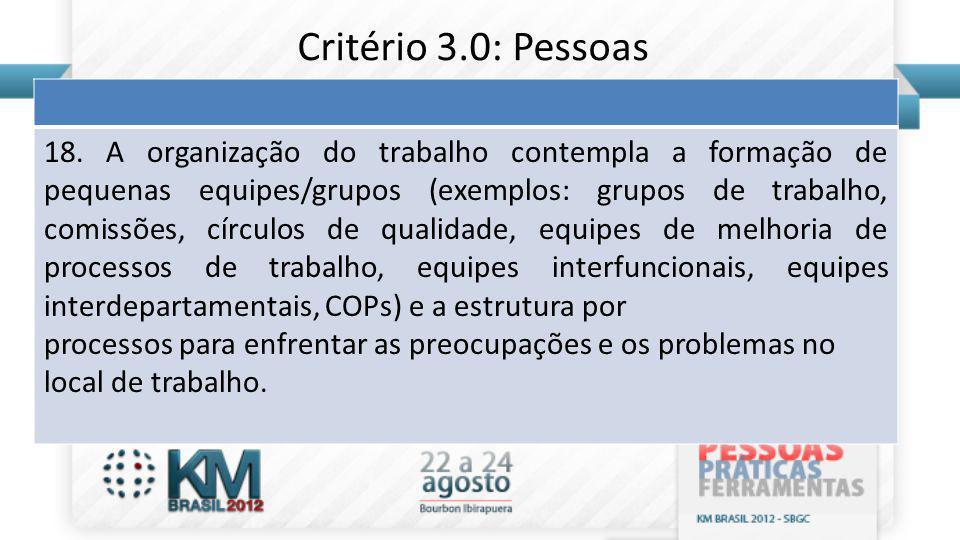 Critério 3.0: Pessoas