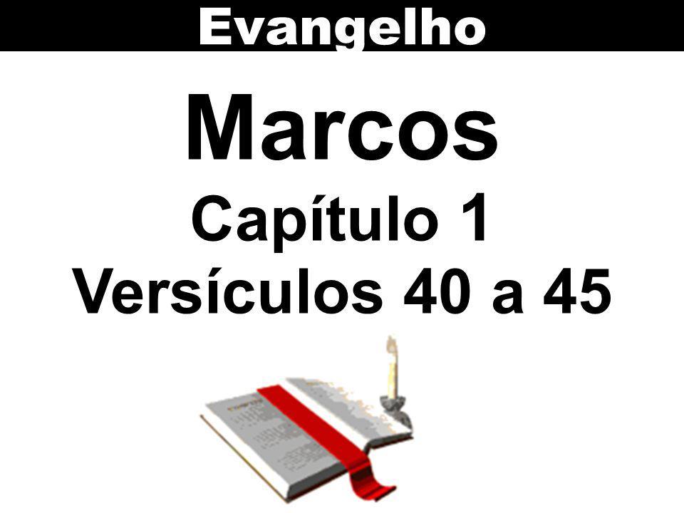 Evangelho Marcos Capítulo 1 Versículos 40 a 45
