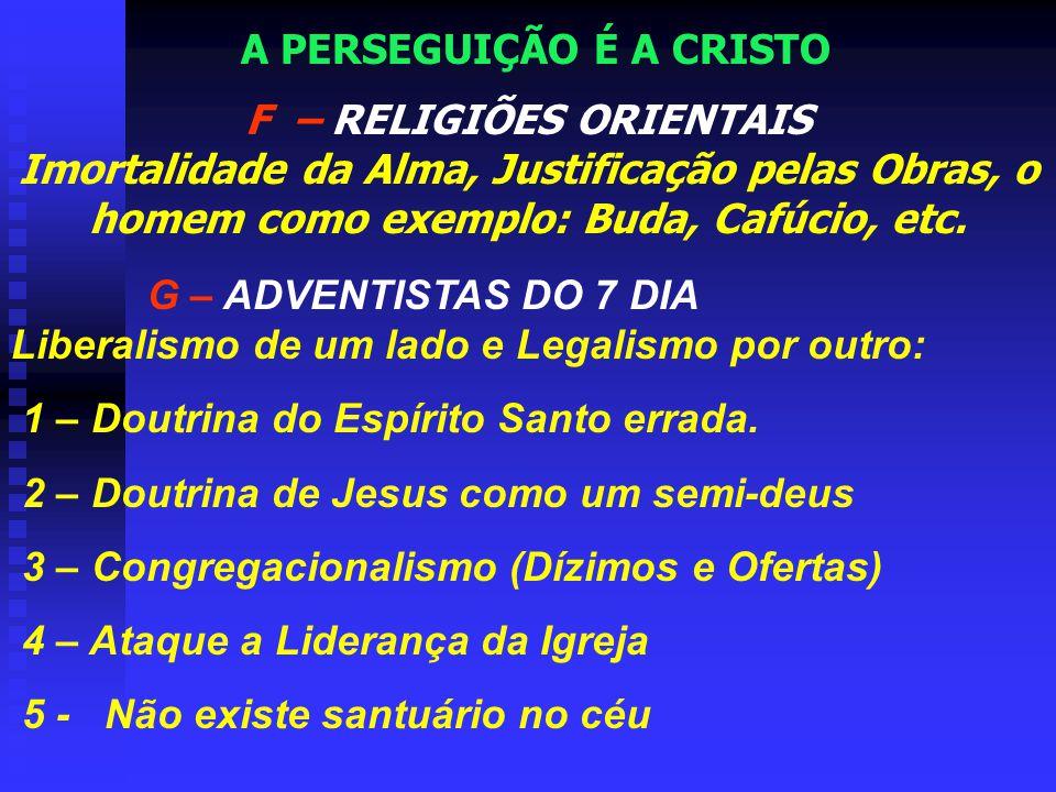 A PERSEGUIÇÃO É A CRISTO