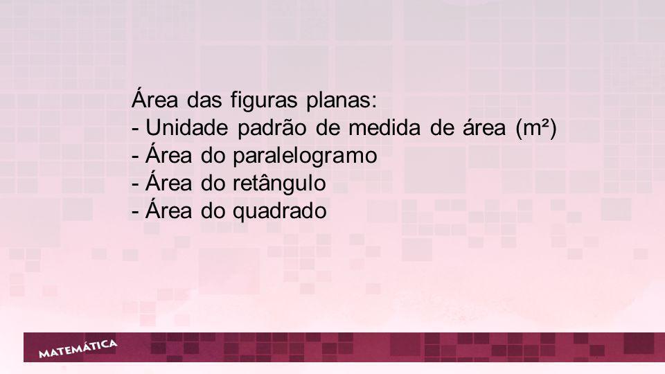 Área das figuras planas: