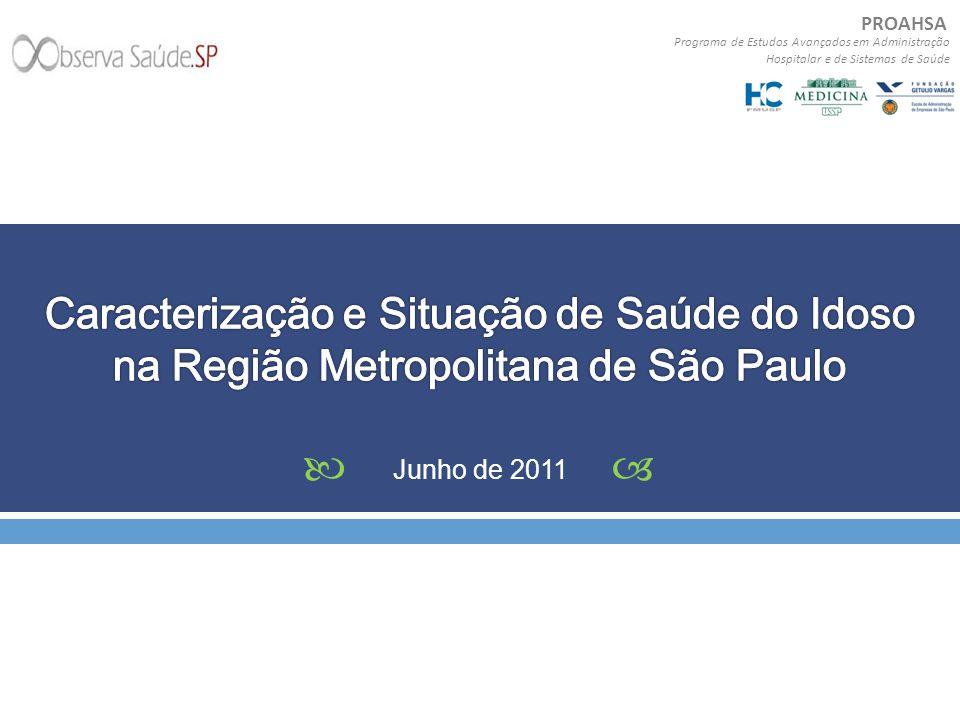 Caracterização e Situação de Saúde do Idoso na Região Metropolitana de São Paulo