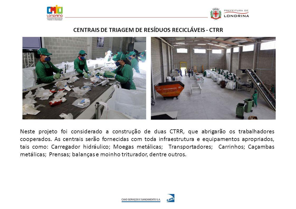 CENTRAIS DE TRIAGEM DE RESÍDUOS RECICLÁVEIS - CTRR