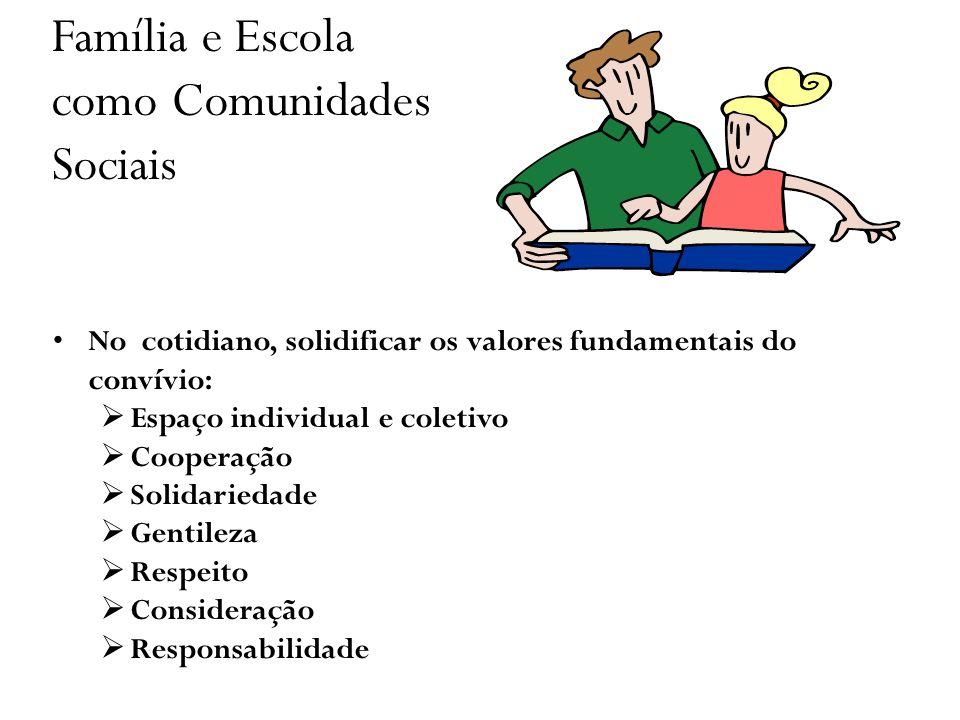 Família e Escola como Comunidades Sociais