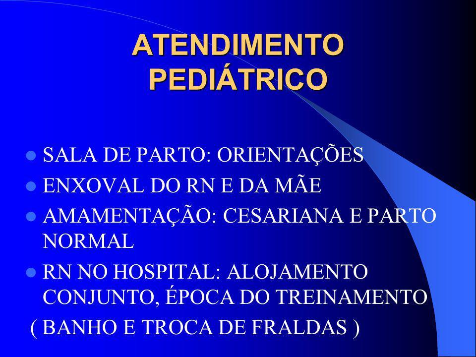 ATENDIMENTO PEDIÁTRICO