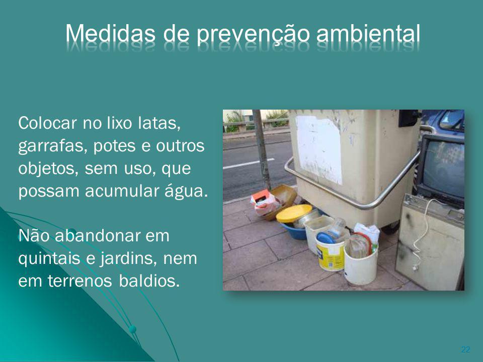 Medidas de prevenção ambiental
