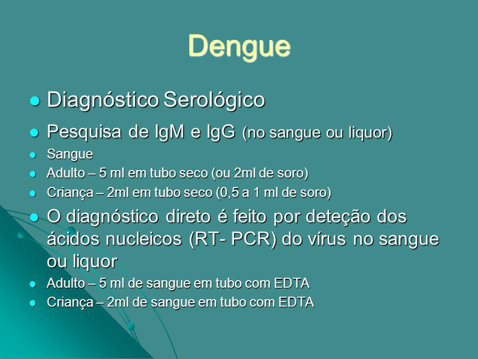 Dengue Diagnóstico Serológico