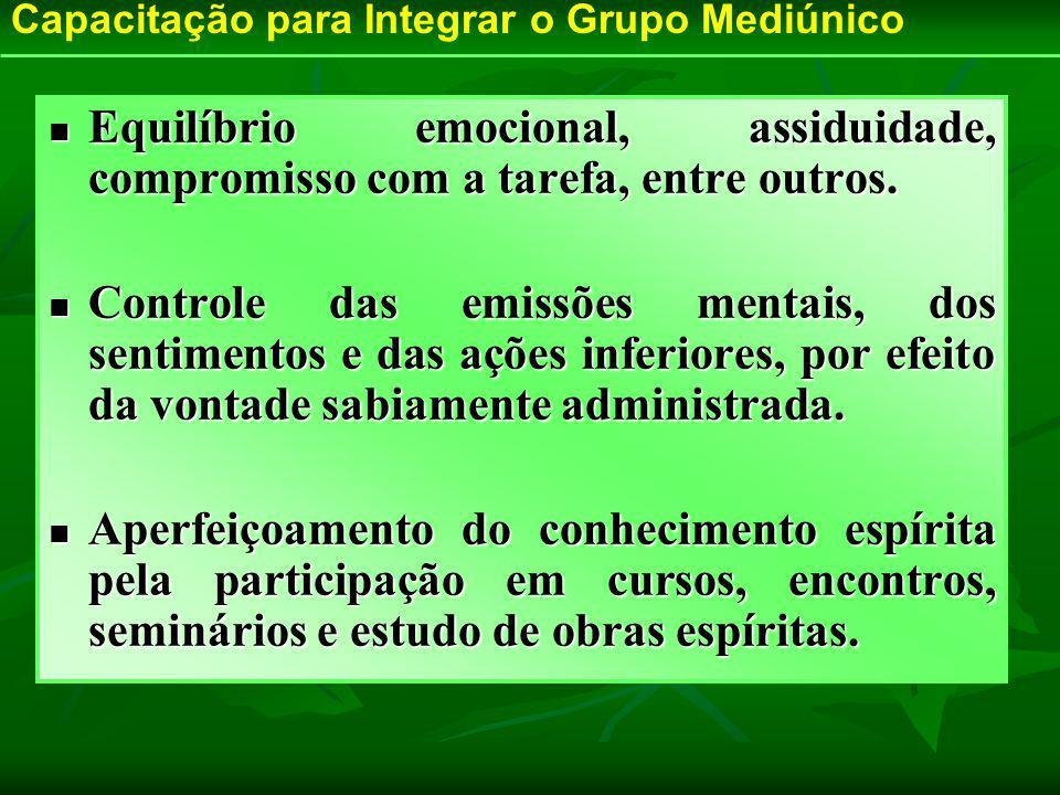 Capacitação para Integrar o Grupo Mediúnico
