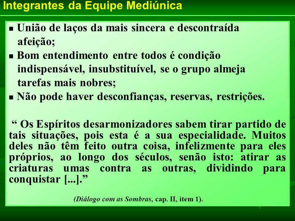 (Diálogo com as Sombras, cap. II, item 1).