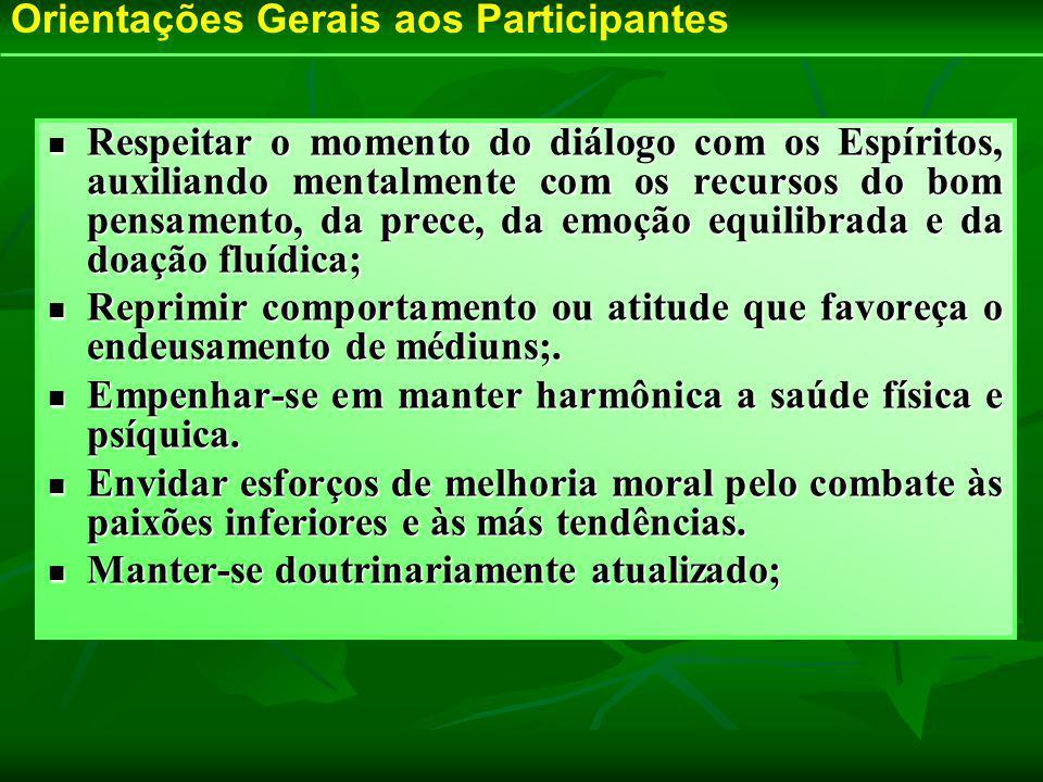 Orientações Gerais aos Participantes