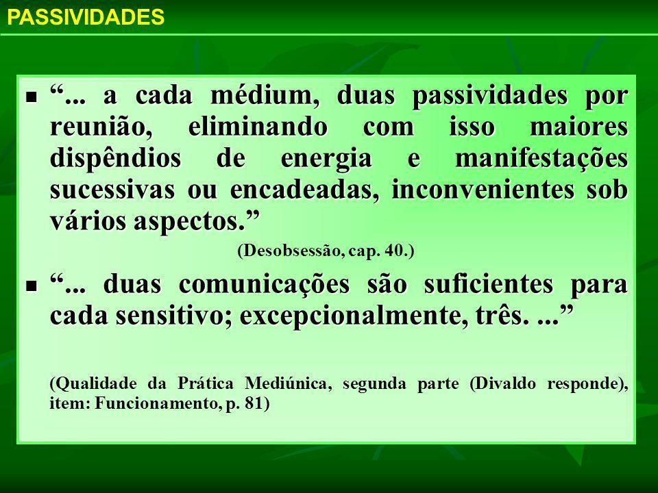 PASSIVIDADES