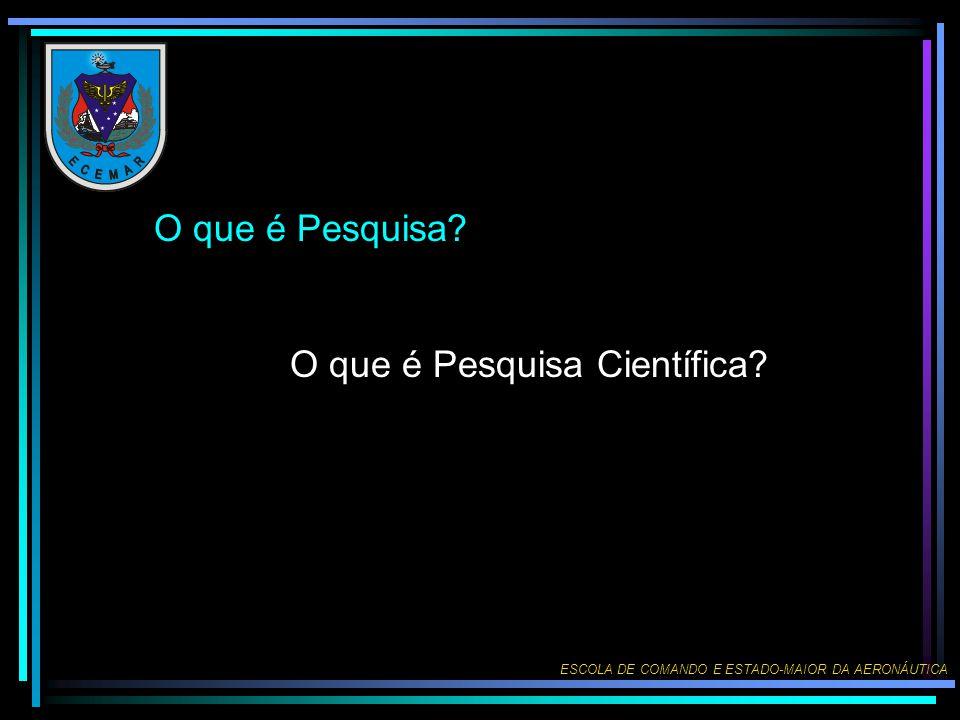 O que é Pesquisa O que é Pesquisa Científica