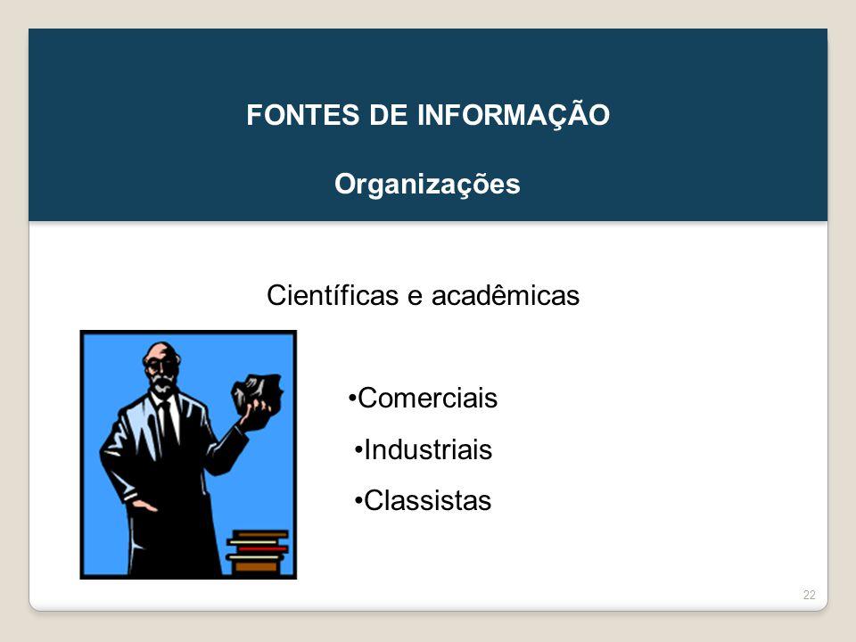 Científicas e acadêmicas