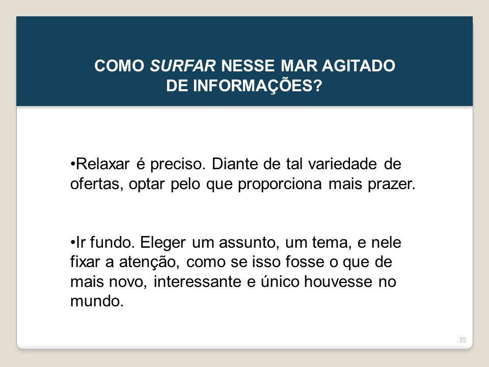 COMO SURFAR NESSE MAR AGITADO