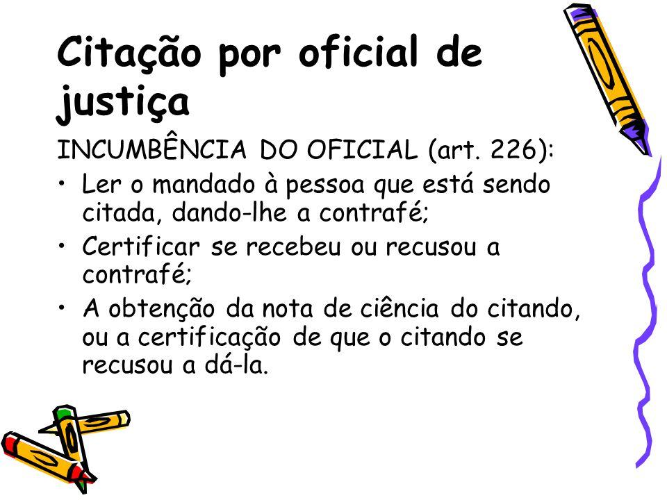 Citação por oficial de justiça