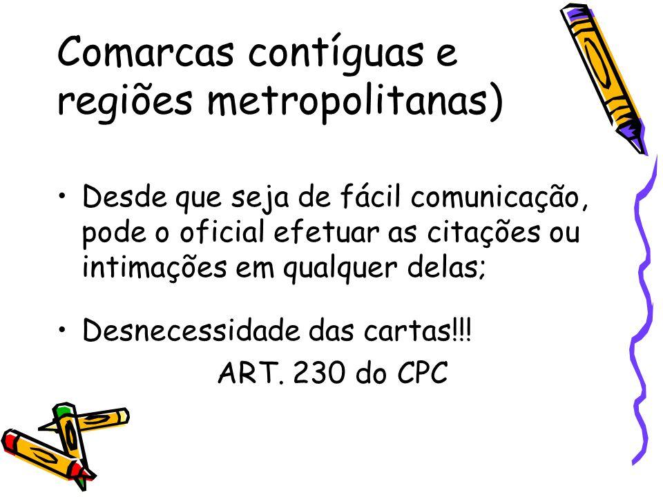 Comarcas contíguas e regiões metropolitanas)