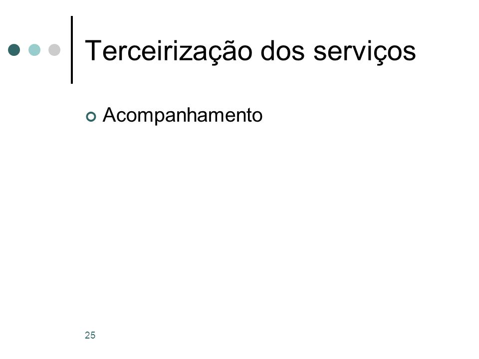Terceirização dos serviços
