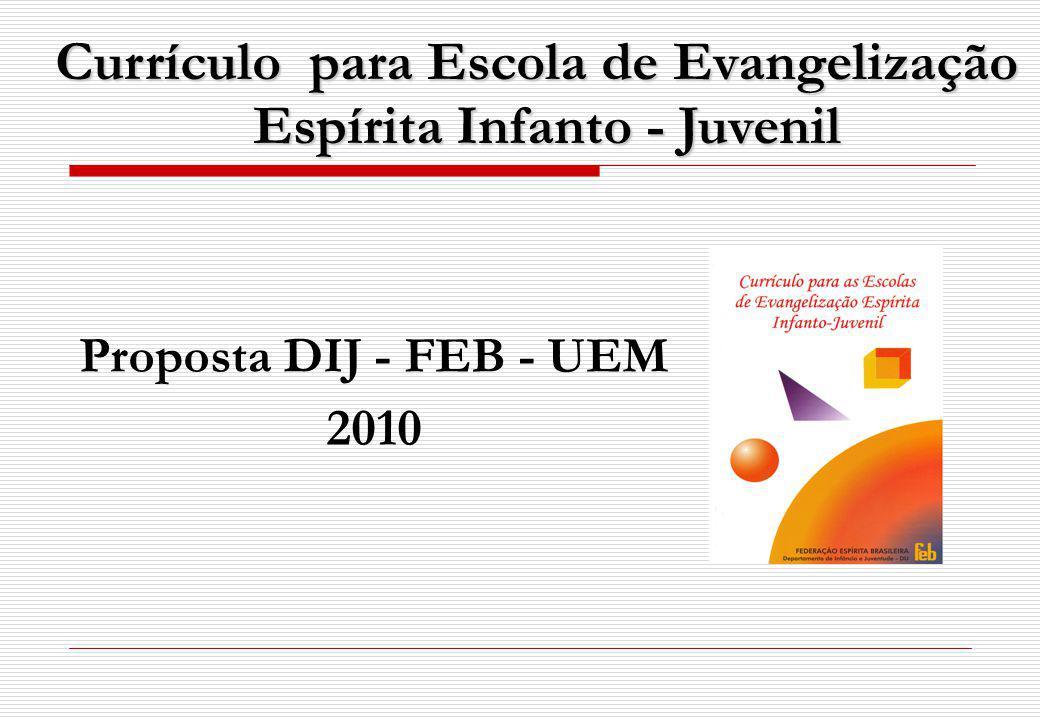 Currículo para Escola de Evangelização Espírita Infanto - Juvenil