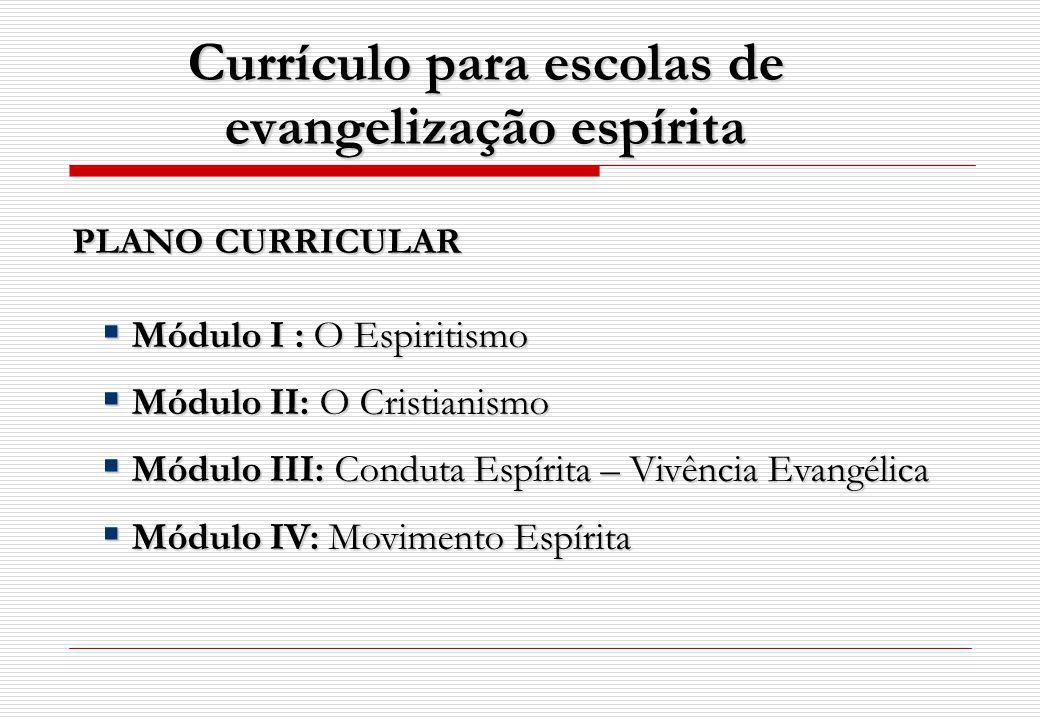 Currículo para escolas de evangelização espírita