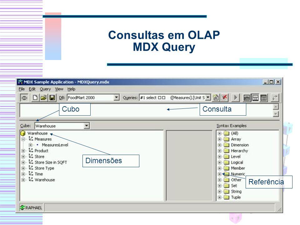 Consultas em OLAP MDX Query