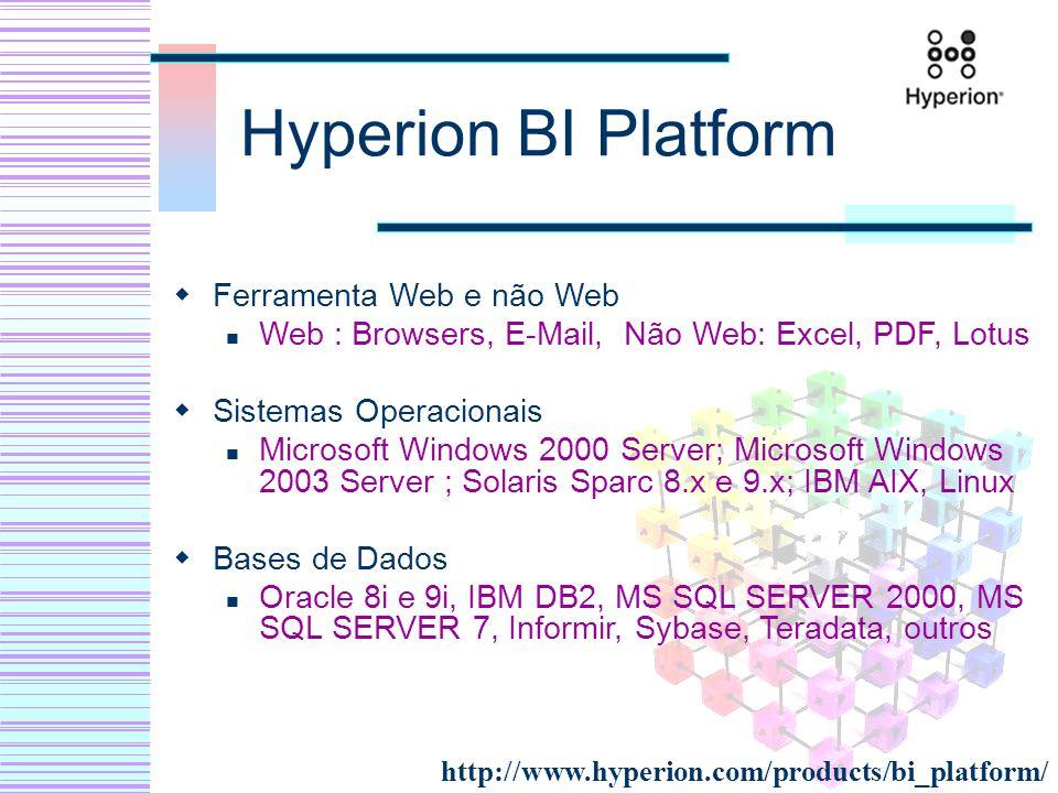 Hyperion BI Platform Ferramenta Web e não Web