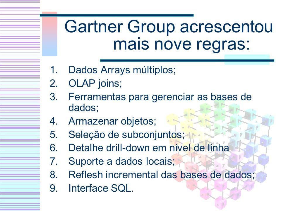Gartner Group acrescentou mais nove regras: