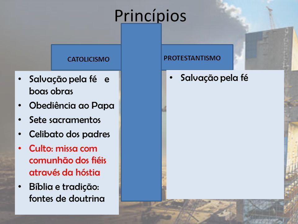Princípios Salvação pela fé Salvação pela fé e boas obras