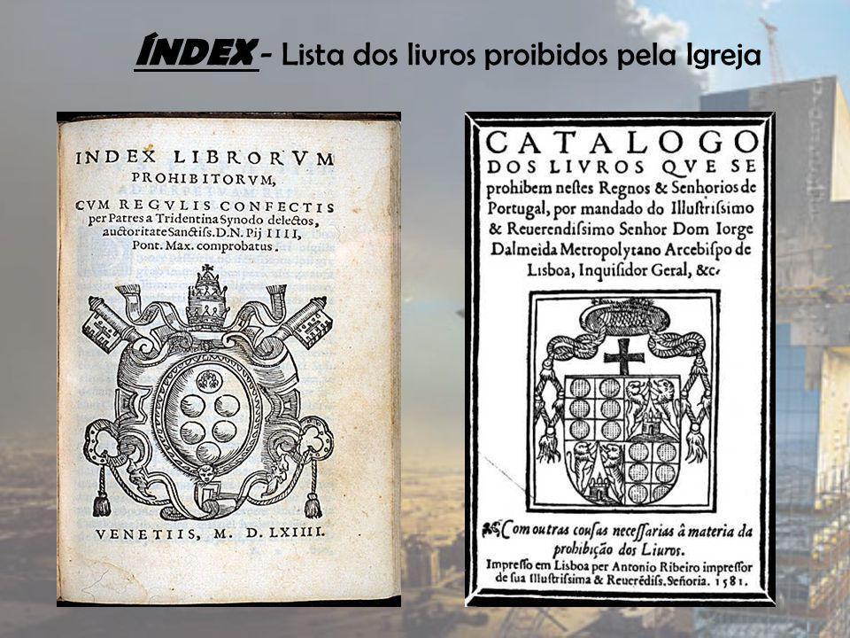 ÍNDEX - Lista dos livros proibidos pela Igreja