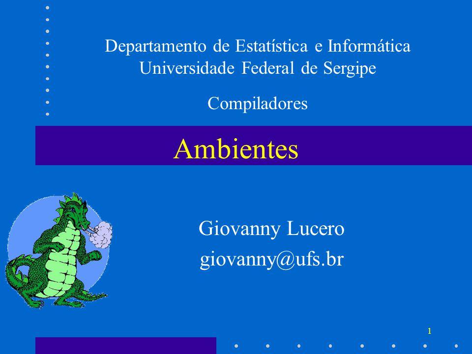 Giovanny Lucero giovanny@ufs.br