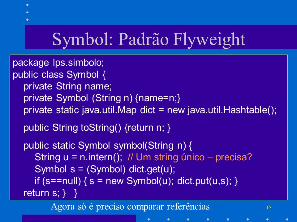Symbol: Padrão Flyweight