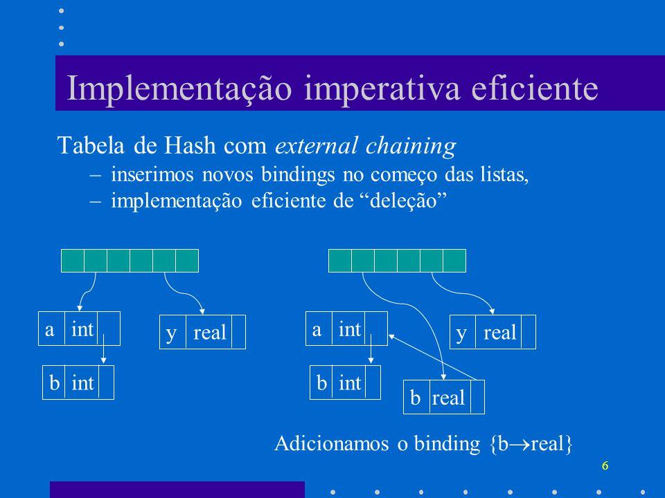 Implementação imperativa eficiente