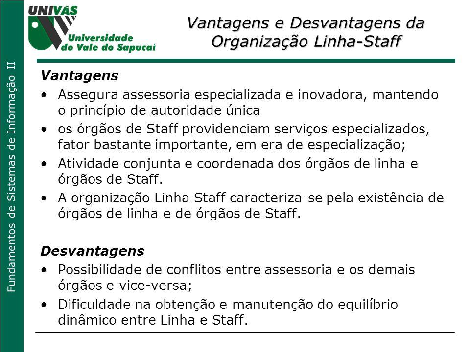 Vantagens e Desvantagens da Organização Linha-Staff