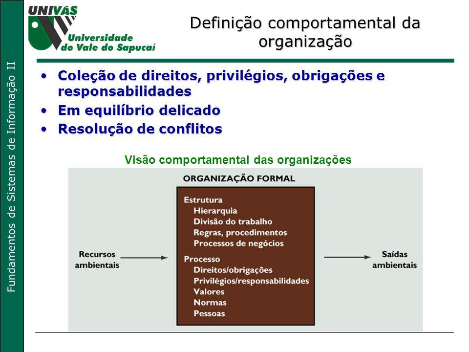 Definição comportamental da organização