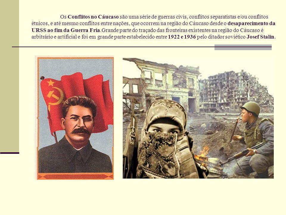 Os Conflitos no Cáucaso são uma série de guerras civis, conflitos separatistas e/ou conflitos étnicos, e até mesmo conflitos entre nações, que ocorrem na região do Cáucaso desde o desaparecimento da URSS ao fim da Guerra Fria.Grande parte do traçado das fronteiras existentes na região do Cáucaso é arbitrário e artificial e foi em grande parte estabelecido entre 1922 e 1936 pelo ditador soviético Josef Stalin.