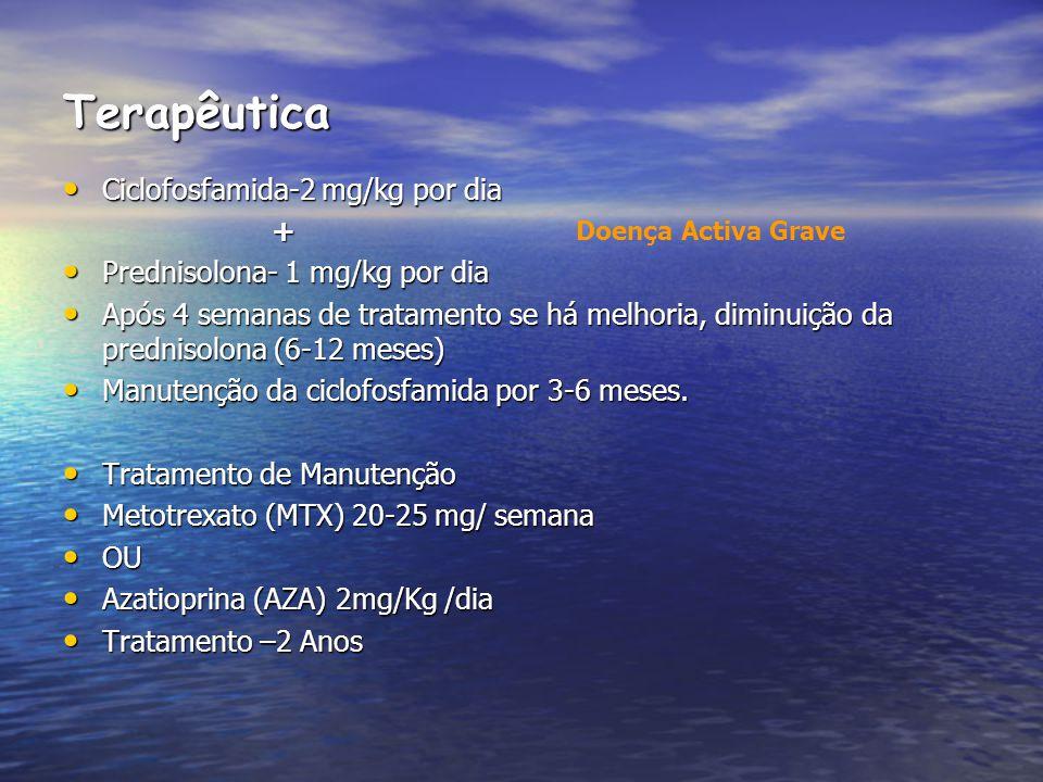 Terapêutica Ciclofosfamida-2 mg/kg por dia +