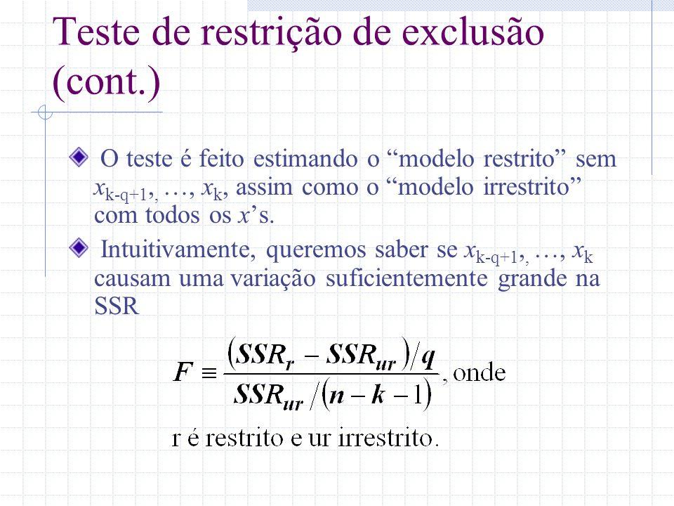 Teste de restrição de exclusão (cont.)